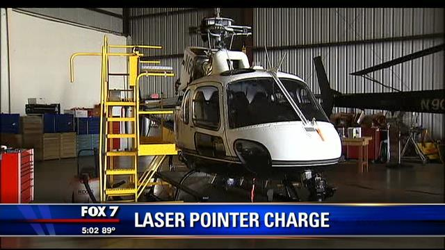 Man accused of pointing laser at APD helicopter appears in court