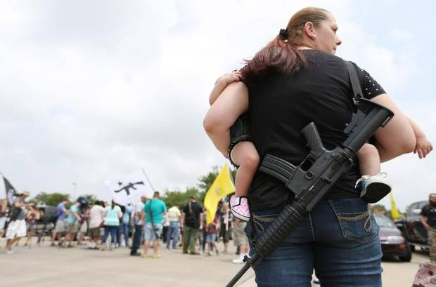 Open Carry group holds rally at Home Depot in North Richland Hills