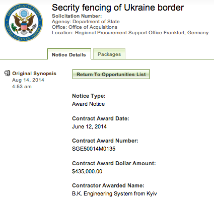 Feds Buy Border Fence ... for Ukraine