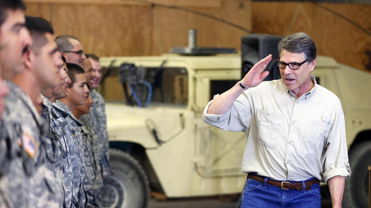 Perry: Guard protecting US, not playing politics