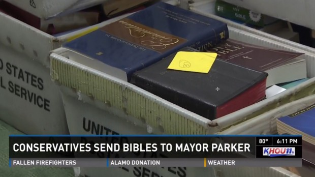 Guess How Many Bibles Have Arrived at the Office of the Houston Mayor After She Subpoenaed Pastors' Sermons