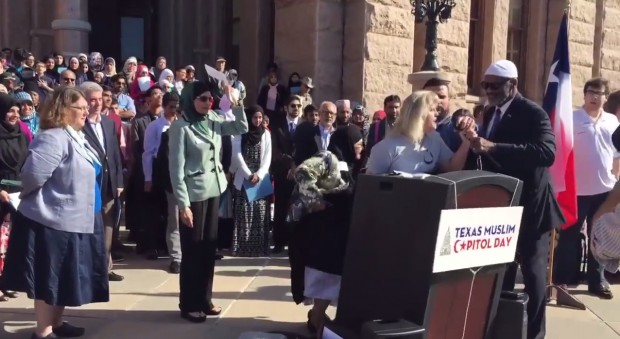 Video: Woman Hijacks Mic at 'Texas Muslim Capitol Day' Event, Decries 'False Prophet Mohammad'