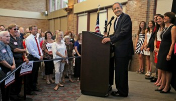 State Sen. Ken Paxton announces his plans to run for attorney general at an event at the Plano Centre on Thursday, August 1, 2013.  (Louis DeLuca/Dallas Morning News)