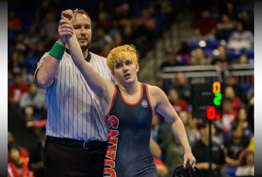 RERsports -- Transgender wrestler booed after winning female competition he didn't want to be in