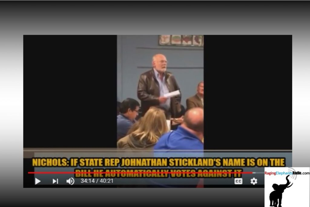 RERvideo – STATE SEN NICHOLS ATTACKS STATE REP STICKLAND AT CLARDY #RULE44 SCRAP (VIDEO)