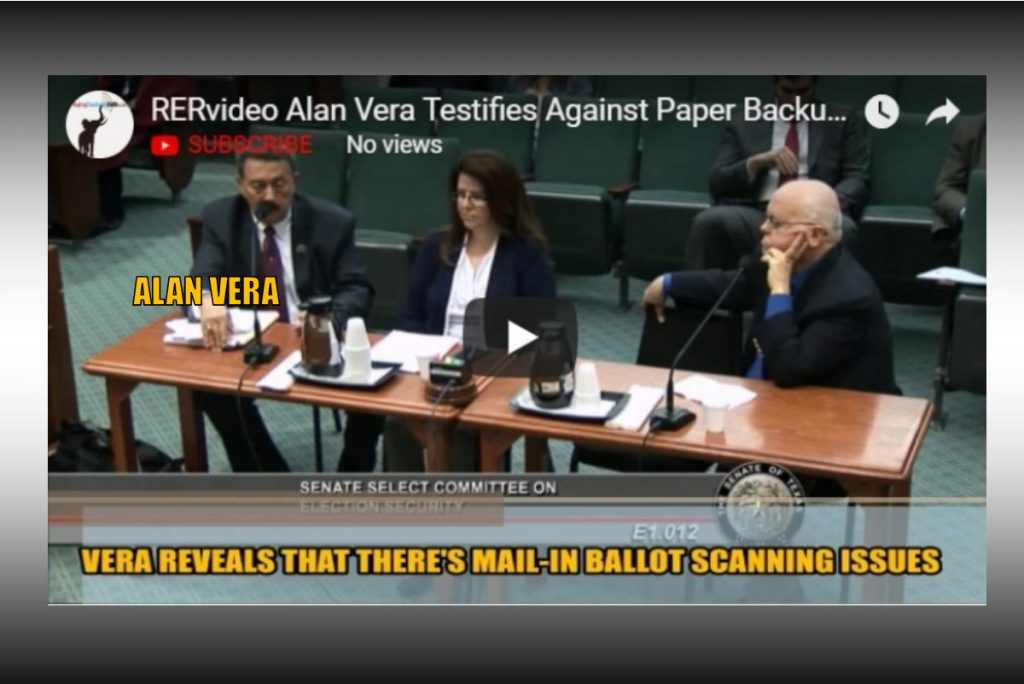 RERfirst – VERA POSES DANGER TO PLATFORM ELECTION INTEGRITY LANGUAGE. ADMITS VOTING SYSTEM IS VULNERABLE (VIDEO)