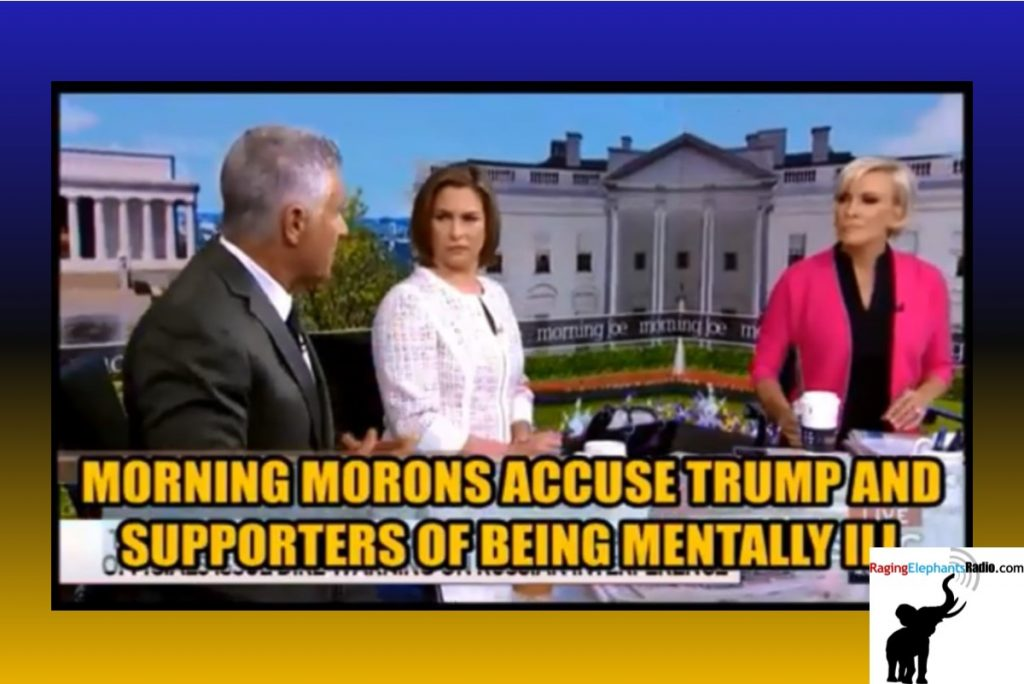 RERvideo – MSDNC MORNING MORONS ACCUSE TRUMP AND SUPPORTERS OF MENTALL ILLNESS (VIDEO)