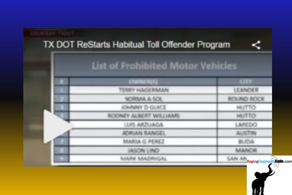 TX DOT ReStarts Habitual Toll Offender Program