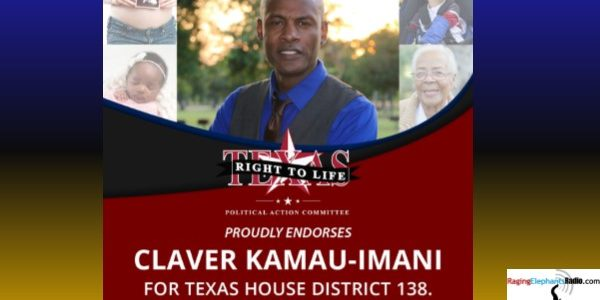 PRESS RELEASE -- TEXAS RIGHT TO LIFE ENDORSES APOSTLE CLAVER FOR HD 138