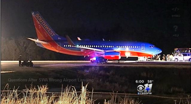 Audio Captures Confusion Of Southwest Wrong-Airport Landing