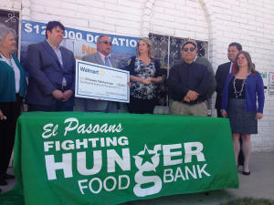 Walmart gives $125K to El Pasoans Fighting Hunger
