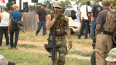 Patriots Carry Guns In Opposition Towards The B.L.M.