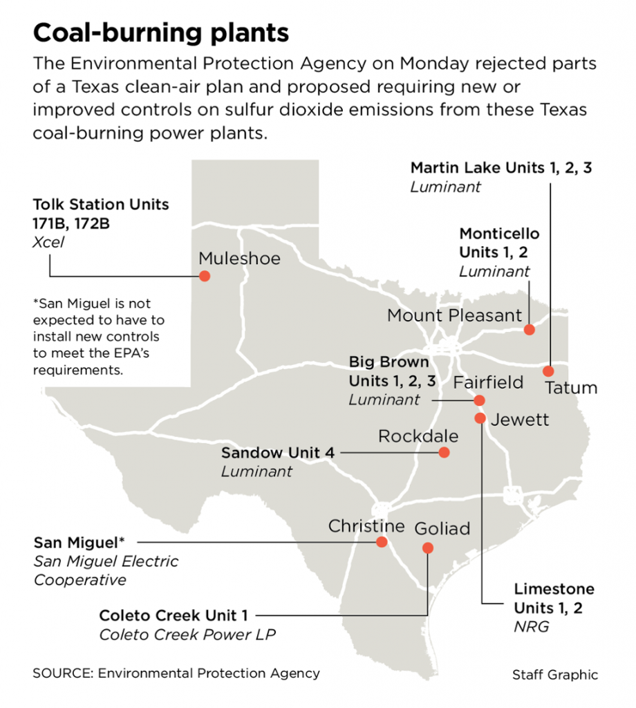 EPA rejects Texas plan to cut haze-causing pollution from coal plants
