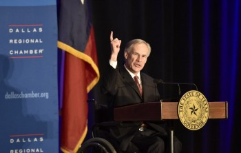 Texas Governor Greg Abbott speaks at the Dallas Regional Chamber at the Hyatt Regency Hotel on March 16, 2015.  He spoke on the 2015 State of the State. (Michael Ainsworth/The Dallas Morning News)