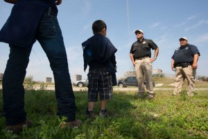 Throngs of children are trying to cross the Texas border again