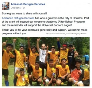 """HOUSTON:""""Revolutionizing Refugee Services"""" for Syrians at Amaanah"""