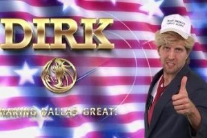 RERsports: Dirk Nowitzki Channels His Inner Donald Trump in Campaign Video