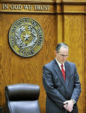 Smith County Judge Joel Baker booked on misdemeanor charges related to suspected open meetings violation