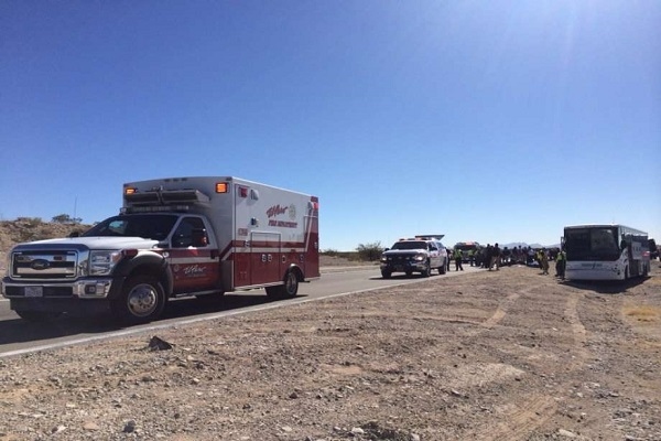 Bus carrying Texas State football team wrecks near New Mexico injuring five