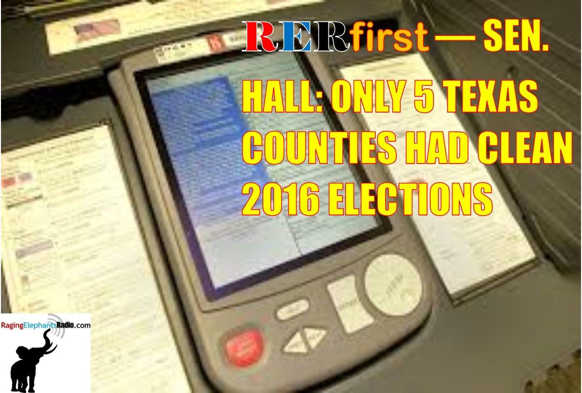 RERfirst — SEN. HALL: ONLY 5 TEXAS COUNTIES HAD CLEAN PRIMARIES (AUDIO)