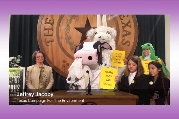 See what a cow has to say about plastic bag pollution in Texas