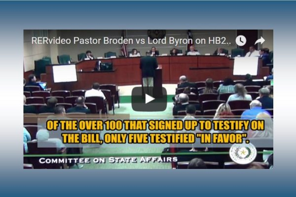"""RERvideo — PASTOR BRODEN AND """"LORD BYRON"""" SPAR OVER BATHROOM BILL IN HEARING (VIDEO)"""