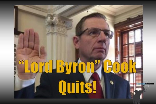 "RER BREAKING – EARTHQUAKE! ""LORD BYRON"" COOK QUITS! TEXAS HOUSE LEADERSHIP CRUMBLES!"