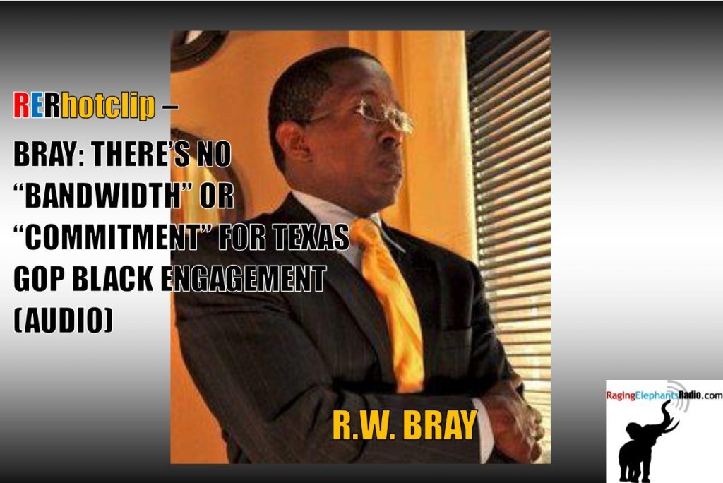 """RERhotlcip – BRAY: THERE'S NO """"BANDWIDTH"""" OR """"COMMITMENT"""" FOR TEXAS GOP BLACK ENGAGEMENT (AUDIO)"""